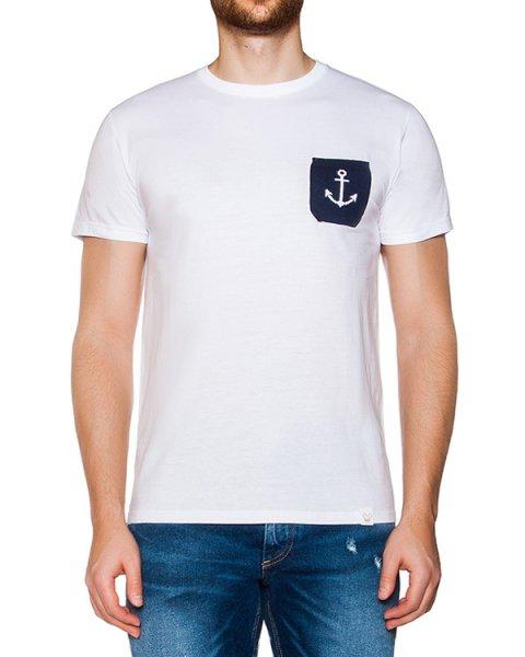 футболка из хлопкового трикотажа с вязаным накладным карманом артикул OBS16271J102A марки Obvious Basic купить за 3400 руб.