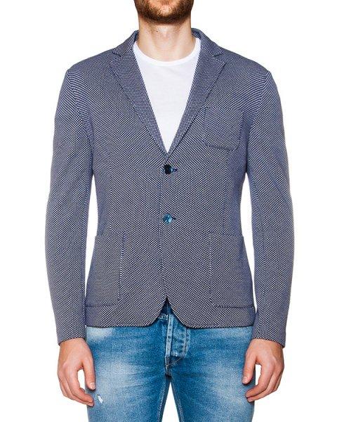 пиджак приталенного кроя из трикотажа с узором артикул OBS16460F150 марки Obvious Basic купить за 14600 руб.