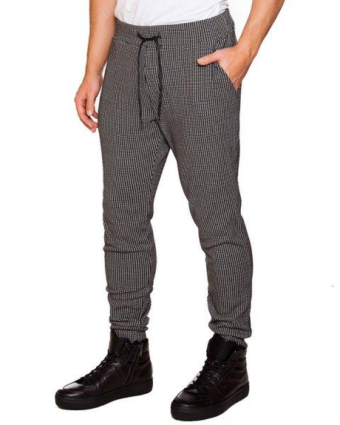 брюки в спортивном стиле из хлопка с рисунком артикул OBW15255P106 марки Obvious Basic купить за 11200 руб.
