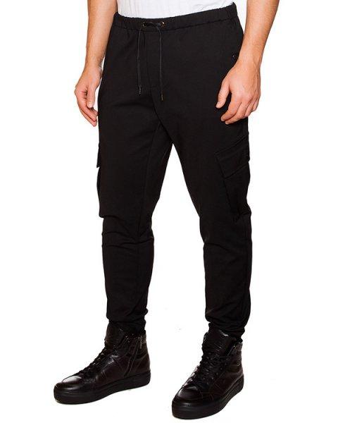 брюки из плотной ткани с карманами по бокам артикул OBW15472P107 марки Obvious Basic купить за 9800 руб.