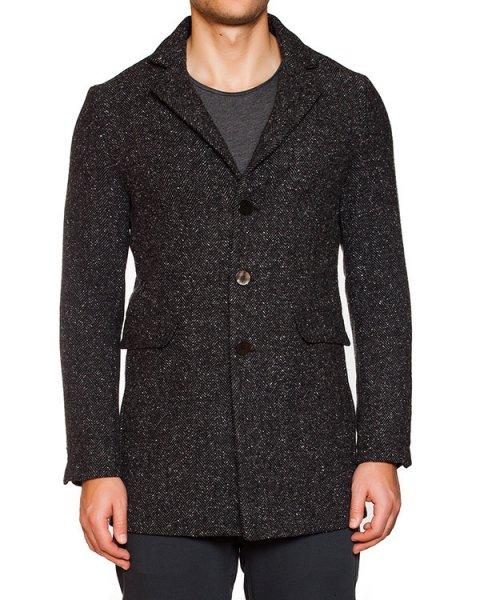пальто однобортное из плотного твида артикул OBW15852T107 марки Obvious Basic купить за 21300 руб.