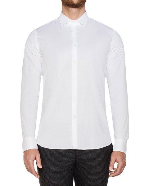 рубашка классического кроя из хлопка артикул OBW16052C100 марки Obvious Basic купить за 8500 руб.