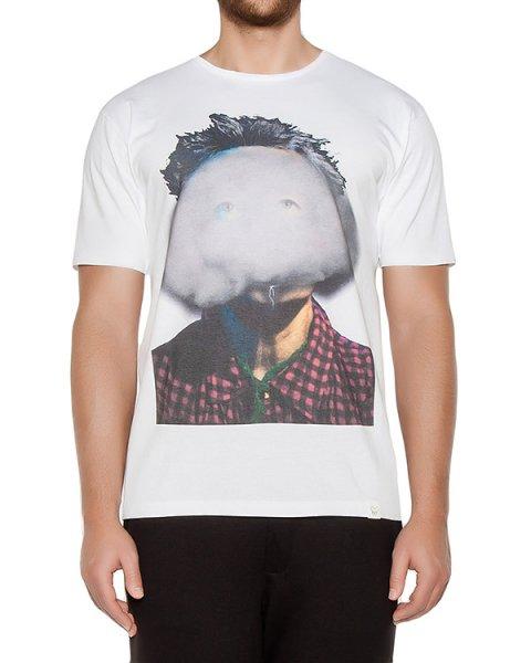 футболка из хлопкового трикотажа с принтом артикул OBW16261J103I марки Obvious Basic купить за 3900 руб.