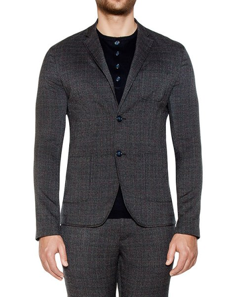 пиджак приталенного кроя из плотного трикотажа артикул OBW16450F150 марки Obvious Basic купить за 34200 руб.