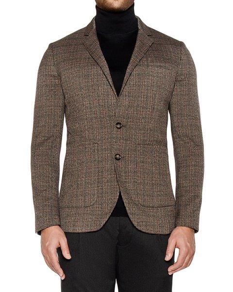 пиджак приталенного кроя из плотного трикотажа артикул OBW16450F153 марки Obvious Basic купить за 35700 руб.