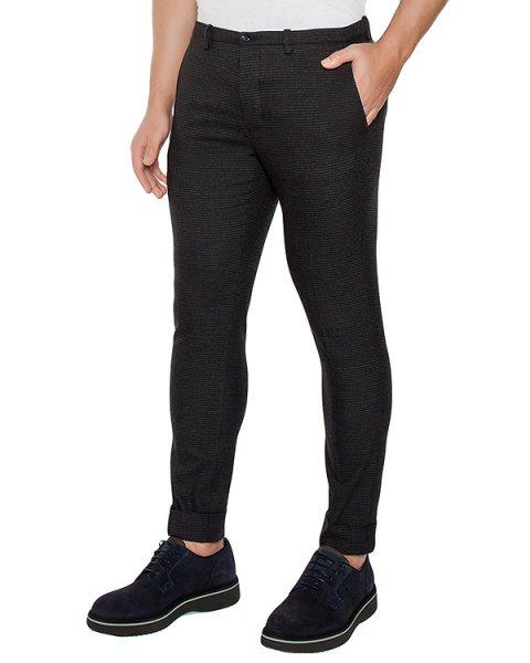 брюки классического кроя из плотной ткани артикул OBW16460P101 марки Obvious Basic купить за 17000 руб.