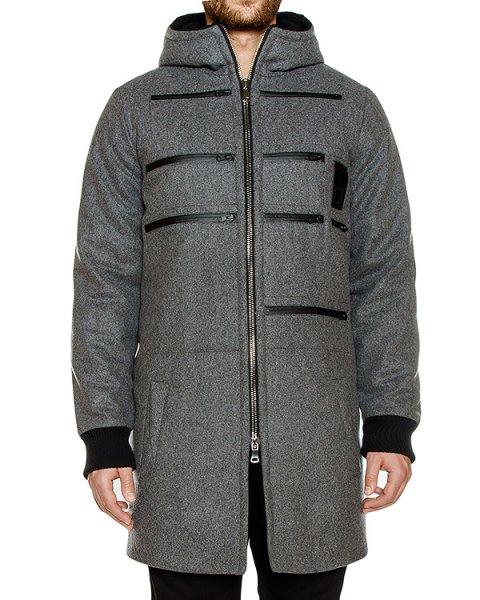 пальто из плотной шерсти с карманами артикул OWRPRK03 марки Letasca купить за 56600 руб.