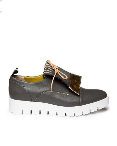 туфли из экокожи, на толстой рифленой подошве  артикул OXFORDFRI марки Leo Studio Design купить за 6800 руб.