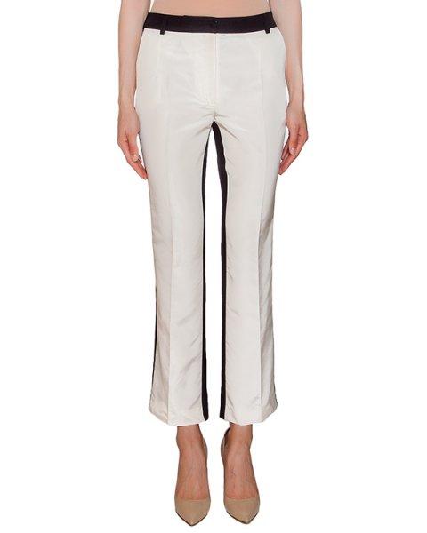 брюки укороченные, расклешенного кроя из шелка артикул P011335 марки Graviteight купить за 62500 руб.