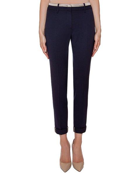 брюки прямого кроя с отворотами, дополнены контрастной отделкой артикул P04925 марки Peserico купить за 24200 руб.