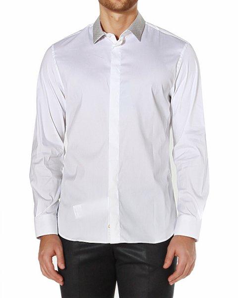 рубашка приталенного кроя, с графическим принтом по вороту артикул P1CF1B марки EMPORIO ARMANI купить за 7200 руб.