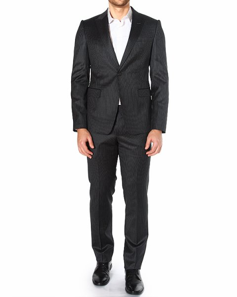 костюм однобортный, с принтом - тонкой полоской артикул P1V16E-P1142 марки EMPORIO ARMANI купить за 39500 руб.