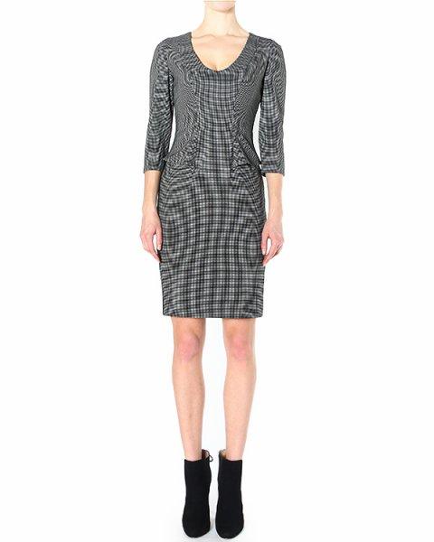 платье приталенного кроя, с V-образным вырезом артикул P2A01T марки EMPORIO ARMANI купить за 16300 руб.