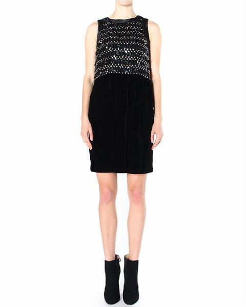 платье декорированное серебристыми стразами артикул P2A81R марки EMPORIO ARMANI купить за 53500 руб.