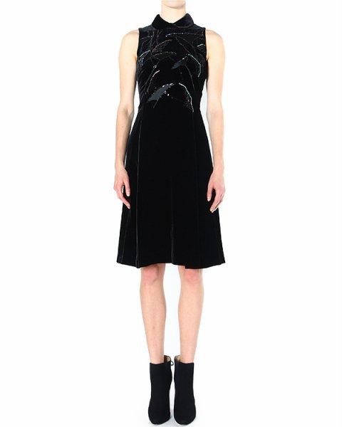 платье декорированное разноцветными стразами и стеклярусом артикул P2A82R марки EMPORIO ARMANI купить за 43400 руб.