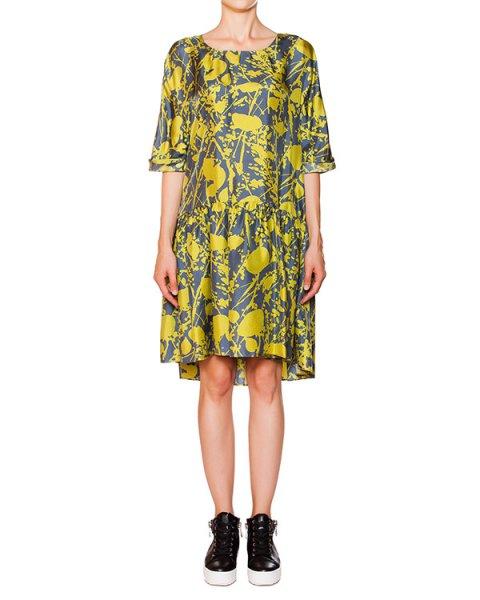 платье свободного кроя с контрастным принтом артикул P5I070 марки SEMI-COUTURE купить за 13100 руб.