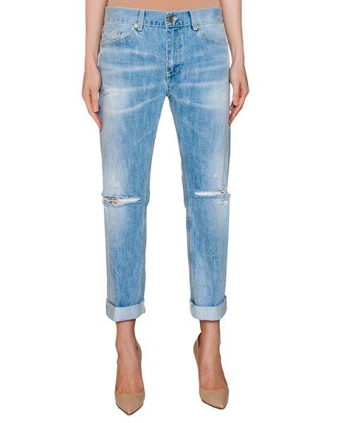 джинсы из плотного денима с разрезами артикул P611-DF140 марки DONDUP купить за 10800 руб.