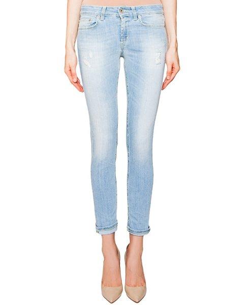 джинсы зауженного кроя с потертостями артикул P692-DS112 марки DONDUP купить за 10300 руб.