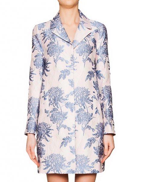 пальто из плотной ткани с фактурным цветочным узором артикул PACIFIC430060 марки P.A.R.O.S.H. купить за 24700 руб.
