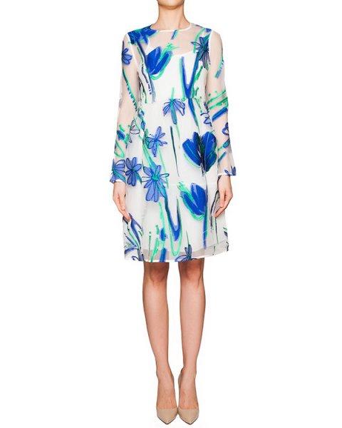 платье из полупрозрачной ткани с вышитым цветочным рисунком; нижнее платье из легкого хлопка артикул PAGE720250 марки P.A.R.O.S.H. купить за 23000 руб.