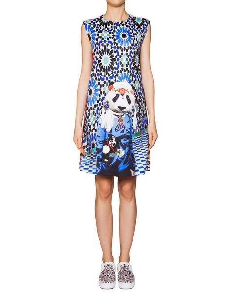 платье из тонкой эластичной ткани с ярким абстрактным рисунком артикул PANDA марки The Artistylist купить за 9800 руб.