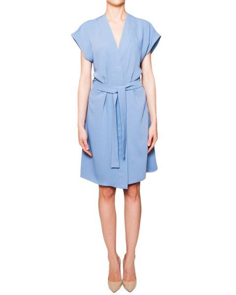 платье из легкой мягкой ткани с завязками на поясе артикул PANTERA720403 марки P.A.R.O.S.H. купить за 9500 руб.