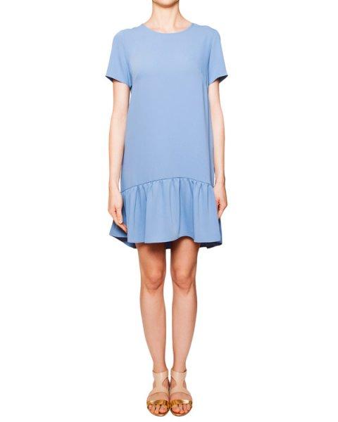 платье асимметричного кроя из мягкой ткани с завязками на спине артикул PANTERA730130 марки P.A.R.O.S.H. купить за 8000 руб.