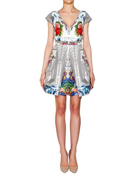 платье из тонкого неопрена с ярким принтом артикул PE16A111 марки Piccione piccione купить за 21000 руб.