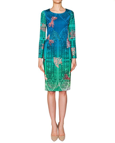платье из тонкого неопрена с ярким принтом артикул PE16A114 марки Piccione piccione купить за 14700 руб.