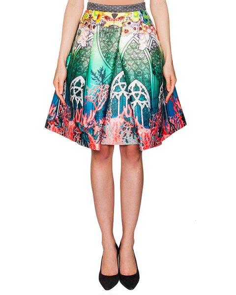юбка из тонкого неопрена с ярким принтом артикул PE16D204 марки Piccione piccione купить за 11100 руб.