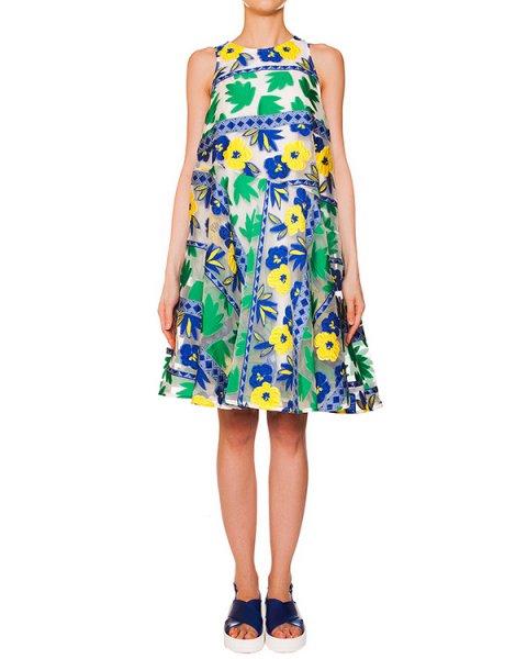 платье из полупрозрачной ткани с вышитым цветочным рисунком; нижнее платье из легкого хлопка артикул PENELOPE720308 марки P.A.R.O.S.H. купить за 22700 руб.