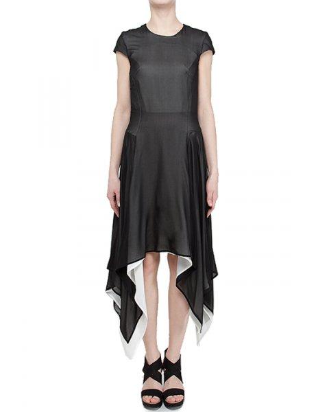 платье асимметричное из шелка артикул PG4514 марки GARETH PUGH купить за 30600 руб.