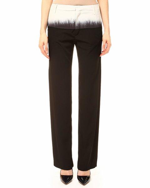 брюки полной длинны, прямого силуэта, с принтом на талии артикул PIGA марки Lutz Huelle купить за 18500 руб.
