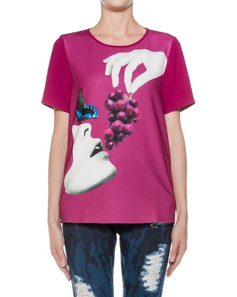 футболка из легкой ткани с принтом артикул PIGRAP310054S марки P.A.R.O.S.H. купить за 14500 руб.