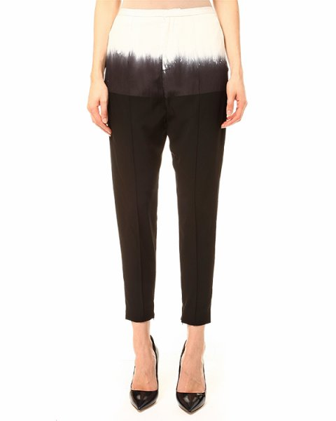 брюки с высокой посадкой, длинною семь-восьмых артикул PLEASE марки Lutz Huelle купить за 18500 руб.