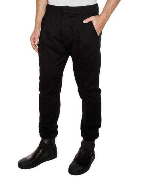 брюки из плотного денима, сзади дополнены лентами артикул PNTELS01 марки Letasca купить за 14800 руб.