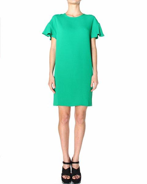 платье прямого силуэта, с опущенной линией плеча и рукавами-воланами артикул PODY720127 марки P.A.R.O.S.H. купить за 8600 руб.