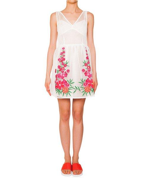платье из перфорированной ткани с вышитым цветочным рисунком артикул PROJECT730150 марки P.A.R.O.S.H. купить за 22600 руб.