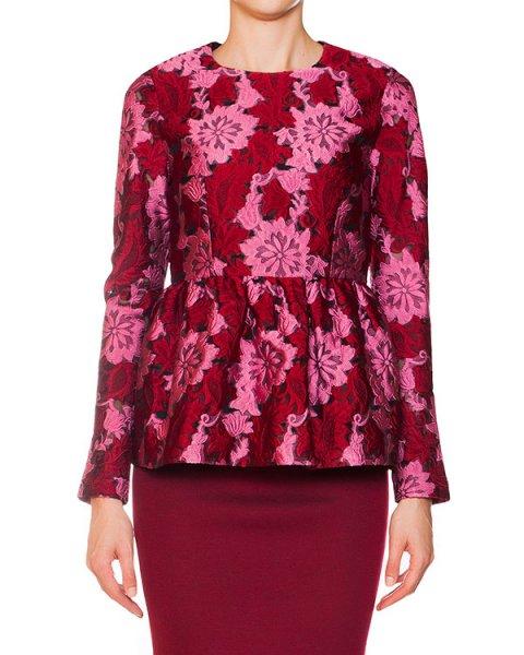 блуза с баской и фактурным цветочным узором артикул PROUST310090 марки P.A.R.O.S.H. купить за 16700 руб.