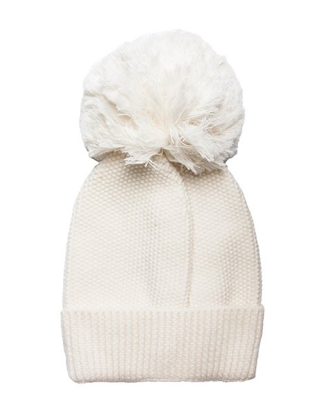шапка крупной вязки из мягкой шерсти с большим помпоном артикул PW0M49 марки (+)People купить за 7700 руб.