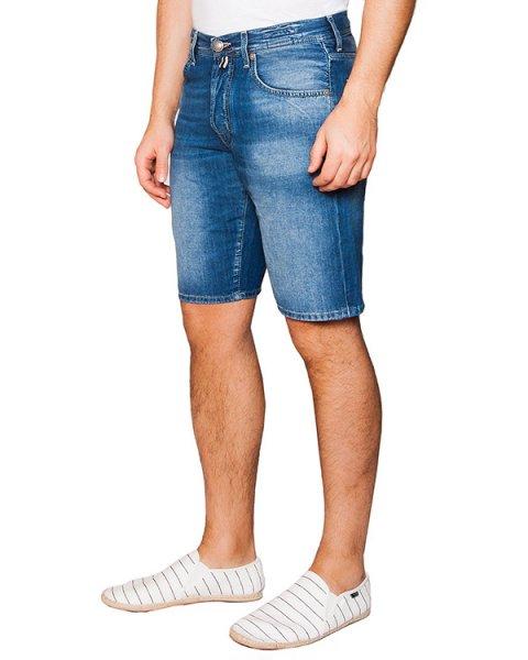 шорты из плотного японского денима Kurabo; дополнены фирменным платком артикул PW6633 марки Jacob Cohen купить за 13100 руб.