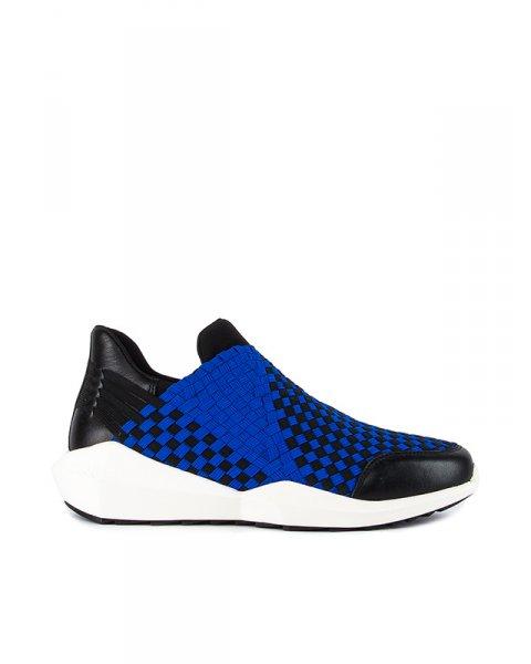 кроссовки с архитектурной подошвой и плетеной отделкой артикул QUARTZB марки ASH купить за 7700 руб.