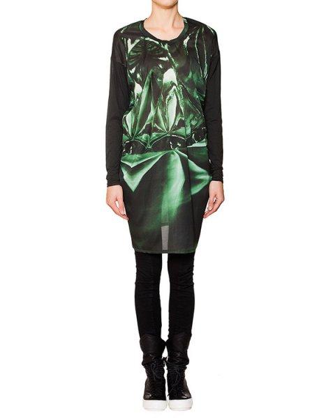 платье из легкой шелковой ткани с абстрактным рисунком артикул RCAY295/18 марки ROQUE ILARIA NISTRI купить за 15500 руб.