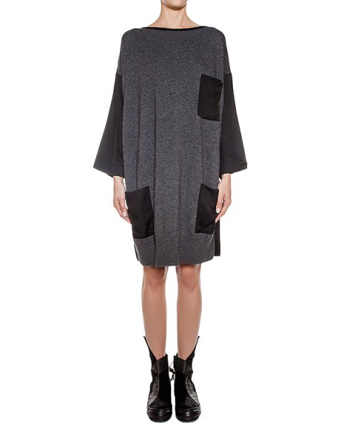платье свободного кроя из шерстяного трикотажа артикул REAX442/6 марки ROQUE ILARIA NISTRI купить за 21600 руб.