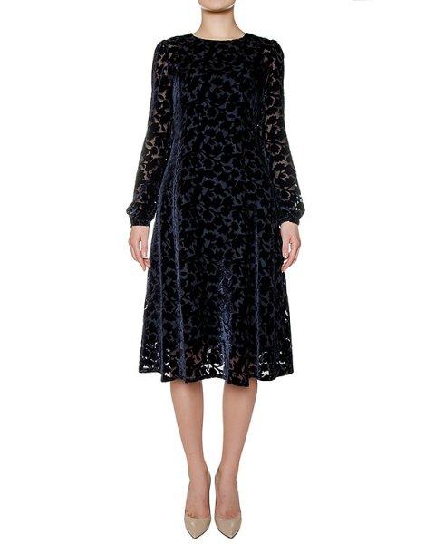 платье из плотной ткани с узором из бархата артикул ROBYN721048 марки P.A.R.O.S.H. купить за 37600 руб.