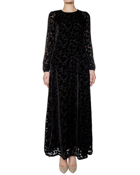 платье в пол из плотной ткани с узором из бархата артикул ROBYN721057 марки P.A.R.O.S.H. купить за 49700 руб.