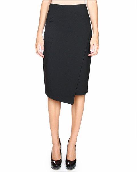 юбка с имитацией асимметричного запаха артикул RPFAWS53384 марки TIBI купить за 12100 руб.