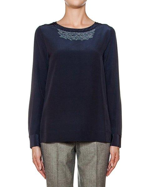 блуза из мягкого шелка с аппликацией артикул S0615700R2 марки Peserico купить за 31600 руб.