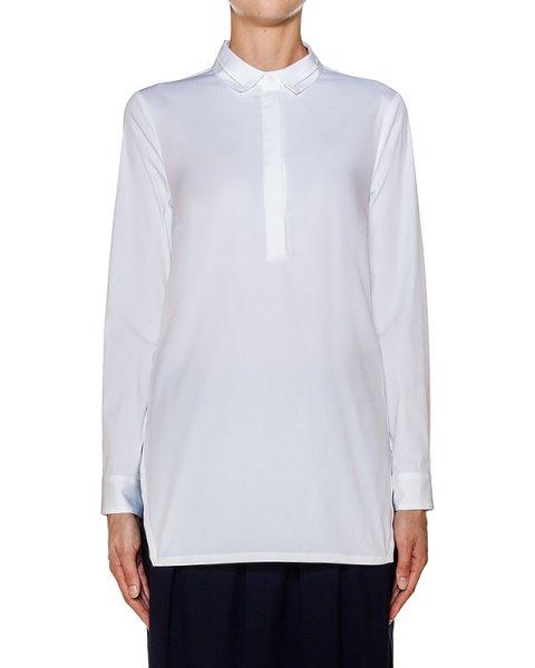 блуза прямого удлиненного кроя из тонкого хлопка; по бокам разрезы артикул S06563 марки Peserico купить за 19400 руб.