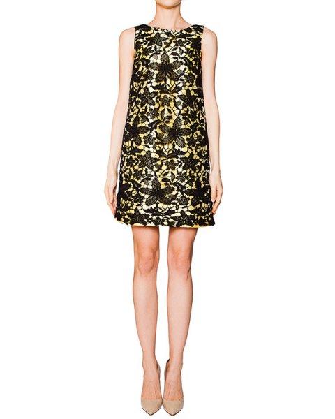 платье из плотной фактурной ткани с шелком, декорировано кружевом артикул S16JAB618DOP марки SI-JAY купить за 18000 руб.